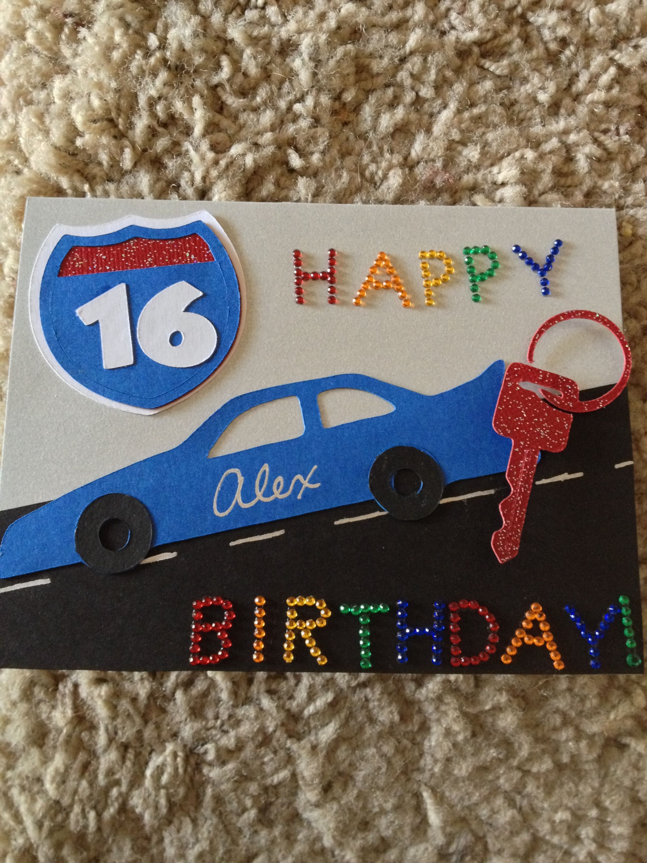 16th Birthday Card Scrapbooking Pinterest 16th Birthday