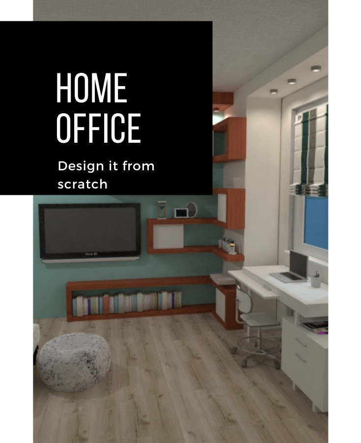 Create Your Perfect Space To Work From Home Planner5d Houseplan Houseproject Homedesign In 2020 Home Office Design Bedroom Inspirations 3d Home Design
