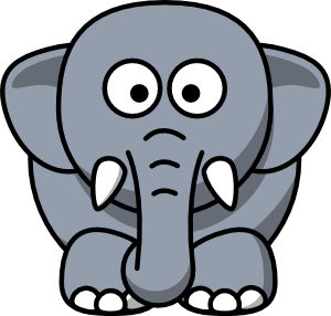 Cartoon Elephant clip art - vector clip art online, royalty free ...