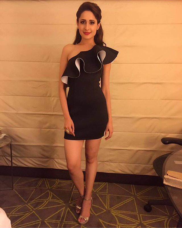 #CelebInFlyrobe South Indian film actress Pragya Jaiswal in our Tobi  Exaggerated Sleeve Bodycon dress.