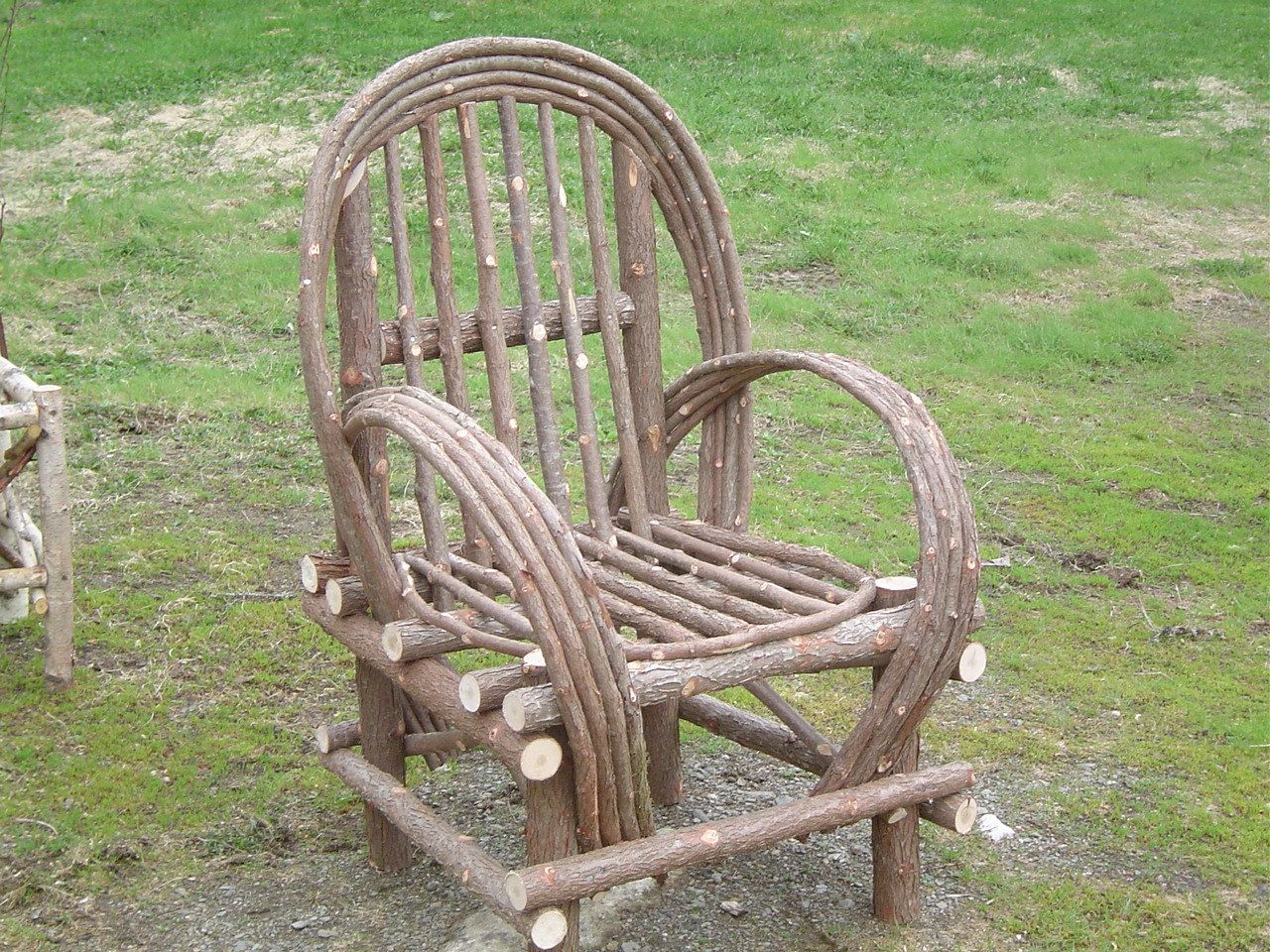 Maine Made Rustic Cedar Bentwood Twig Camp Chair. $165.00, Via Etsy.