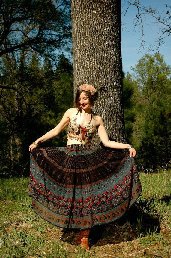 Indian Cotton Skirt... Gypsy Maxi Skirt... by AstralBoutique, $40.00