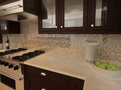 Imagen de pisos y azulejos de cocinas home pinterest for Enchapes cocinas modernas