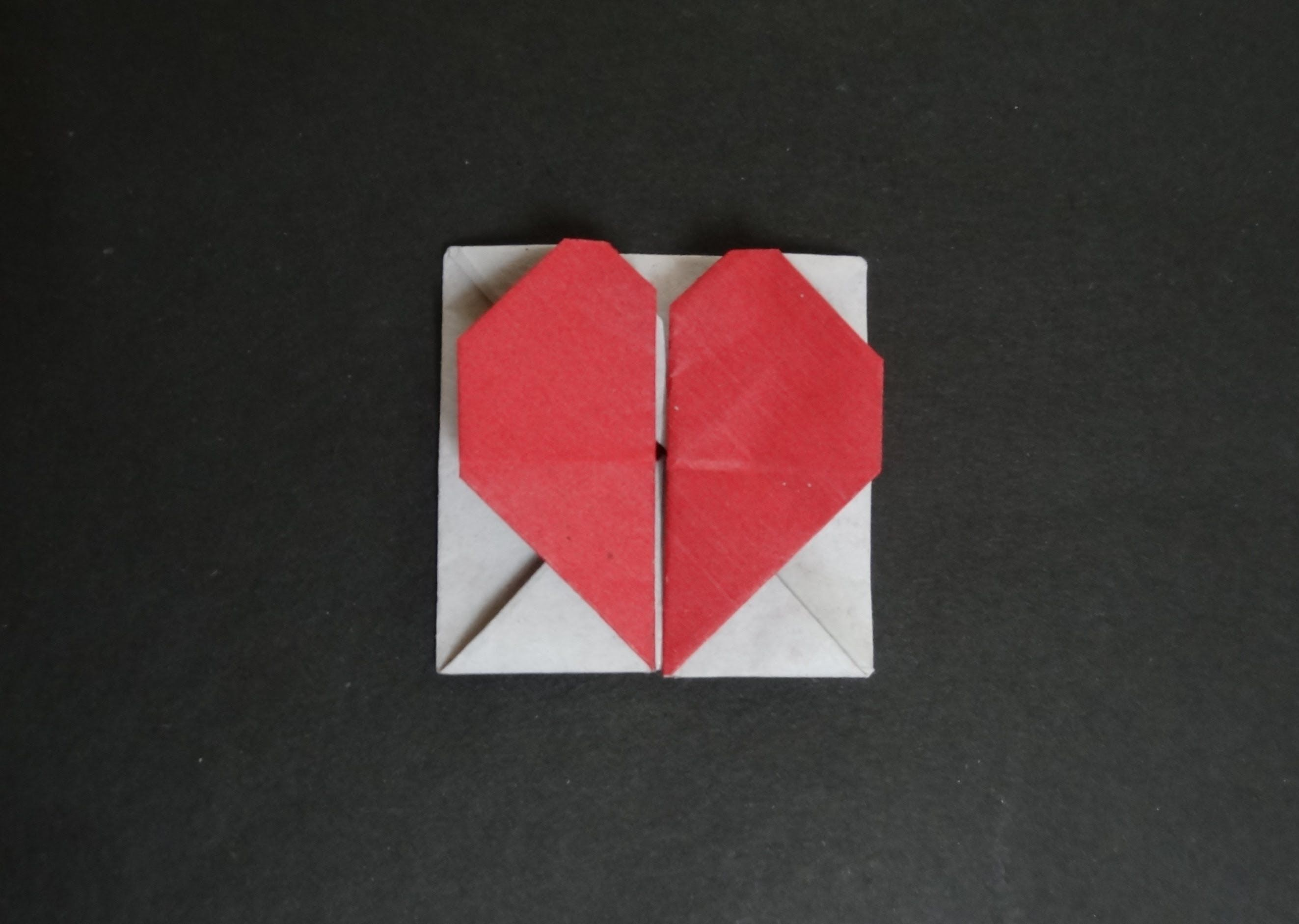 Origami Heart Tutorial - How to fold Origami Heart Box ... - photo#16
