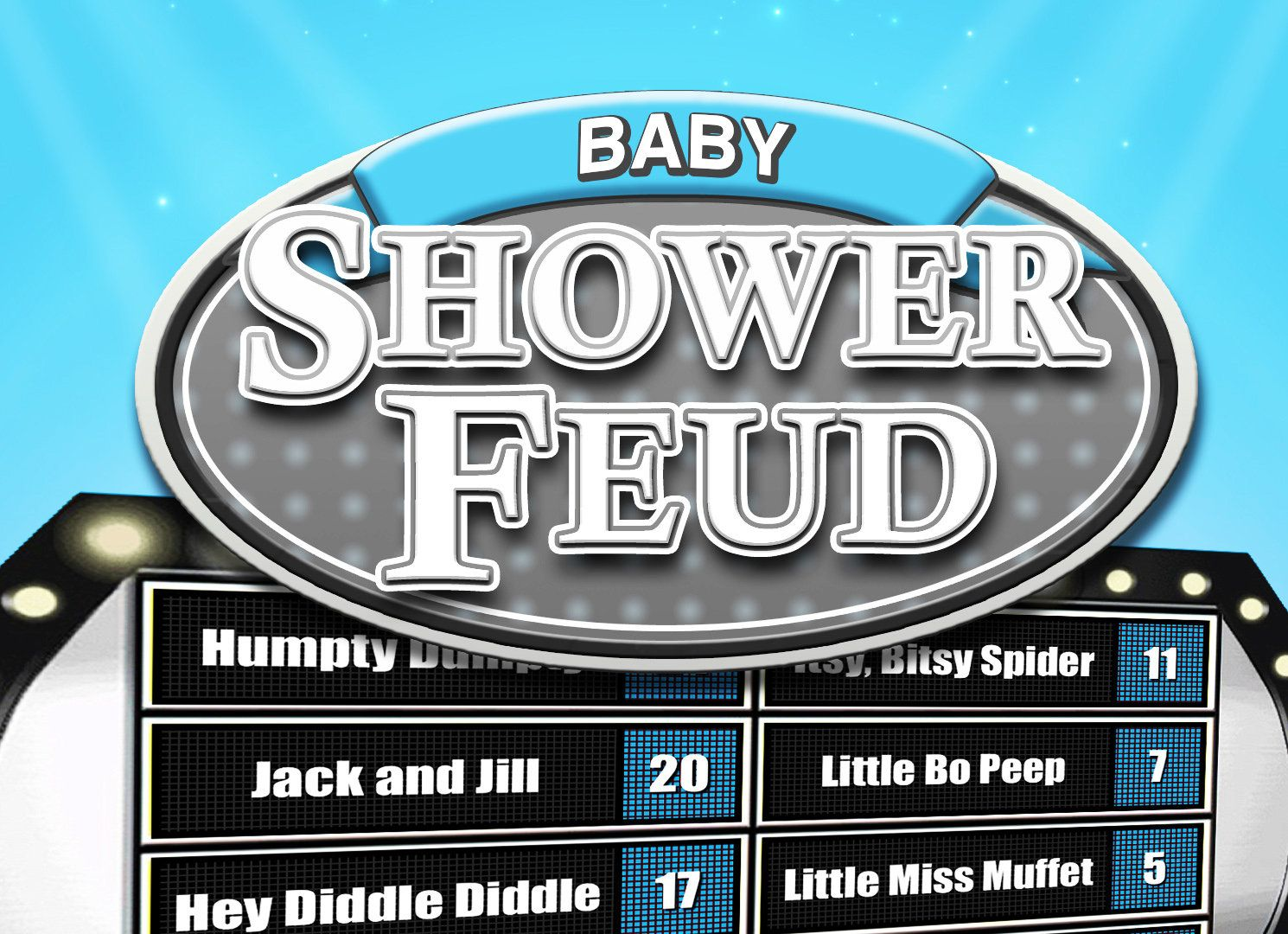 Family Feud Game Baby Shower Boy Interactive PowerPoint