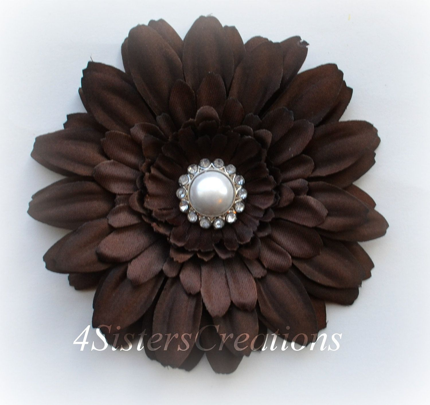 Items Similar To Brown Gerbera Daisy Flower Clip With White Pearl With Cear Rhinestones Center Wedding Flowergirl Brid Daisy Flower Flower Clip Gerbera Daisy A wide variety of daisy brown options are available to you, such my alibaba message center manage rfq my orders my account. pinterest