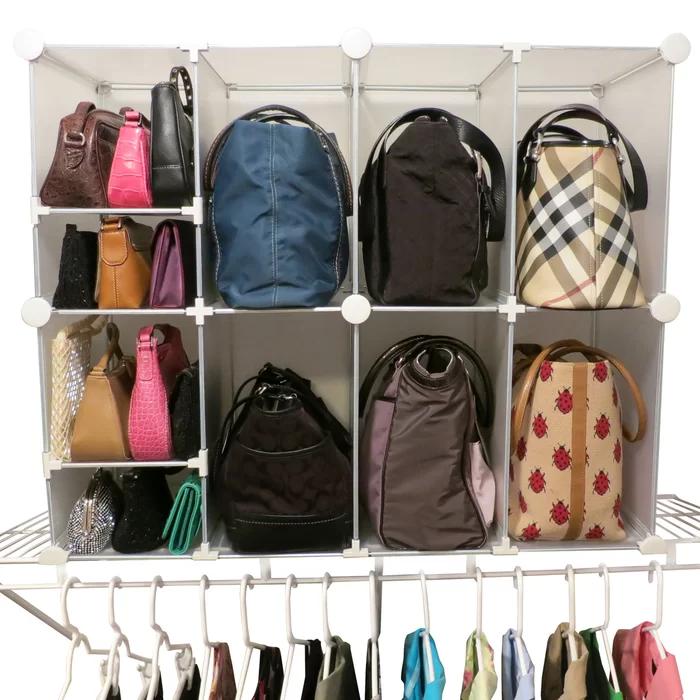 Moffitt Park A Purse Tote And Clutch Shelf Organizer Purse Organization Storing Handbags Purse Storage