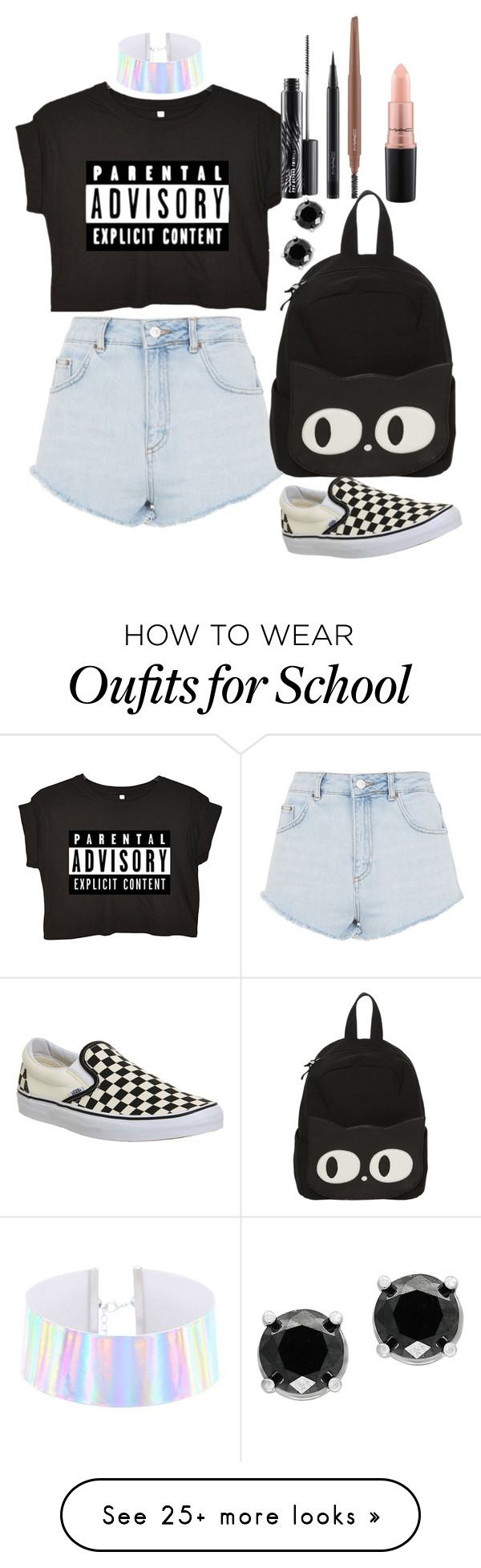 """Untitled #848"" by shreyatorvi on Polyvore featuring Topshop, Vans, MAC Cosmetics and Effy Jewelry"