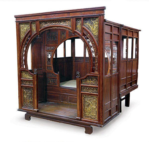 Antique Bed: Antique Chinese Canopy Wedding Bed