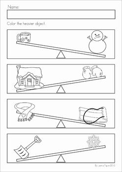 kindergarten winter math worksheets activities winter no prep a page from the unit color. Black Bedroom Furniture Sets. Home Design Ideas