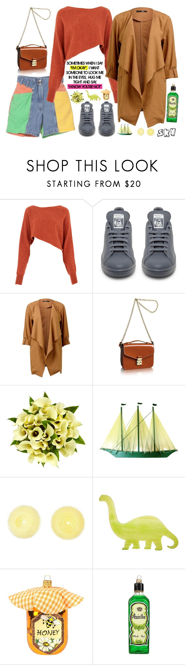 """s k y"" by skyl19 ❤ liked on Polyvore featuring Crea Concept, adidas, Louis Vuitton, Fountain and Harrods"
