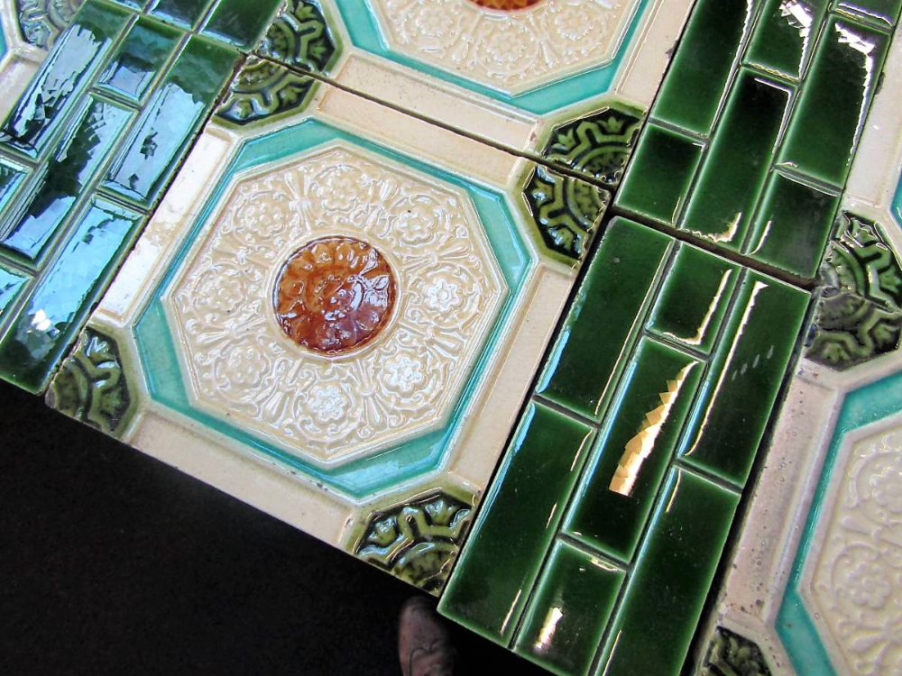 Buy Online Antique Fireplace Edwardian Tile Set In 2020 Antique Fireplace Antique Tiles Antiques