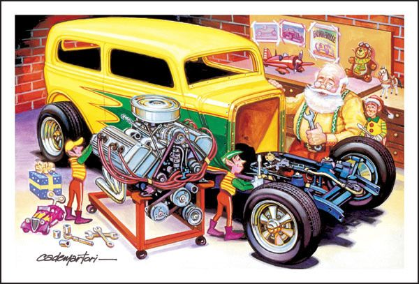 Wacky Hot Rod Cards | New Fire Fighters Christmas Cards *** | DAP ...