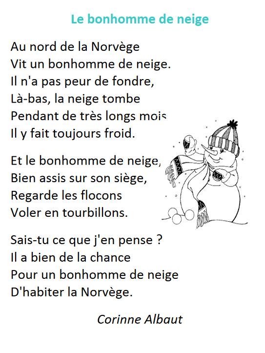 Poésie Le Bonhomme De Neige Corinne Albaut : poésie, bonhomme, neige, corinne, albaut, Corinne, ALBAUT, Bonhomme, Neige, Exercice, Albaut,
