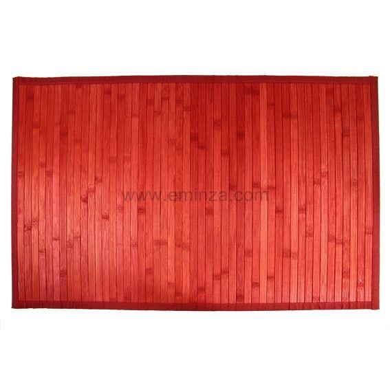 Tapis De Bain Lattes Bambou Rouge Geisha