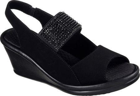 d88486598263 Women s Skechers Rumblers Sparkle On Wedge Sandal