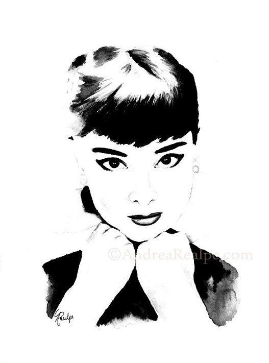 Audrey Hepburn Wall Art Prints Audrey Hepburn Poster By AngyPaints