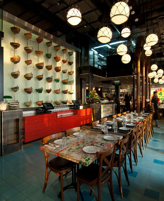 Seafood restaurant with elements of arab architecture - Element bar cuisine ...