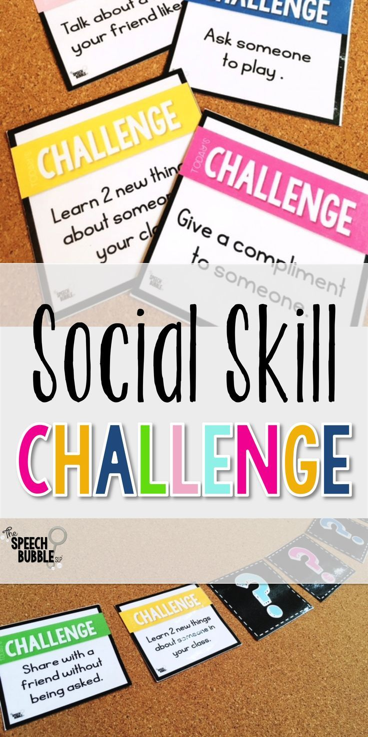 Social Skills Challenge | Student-centered resources, Therapy and ...