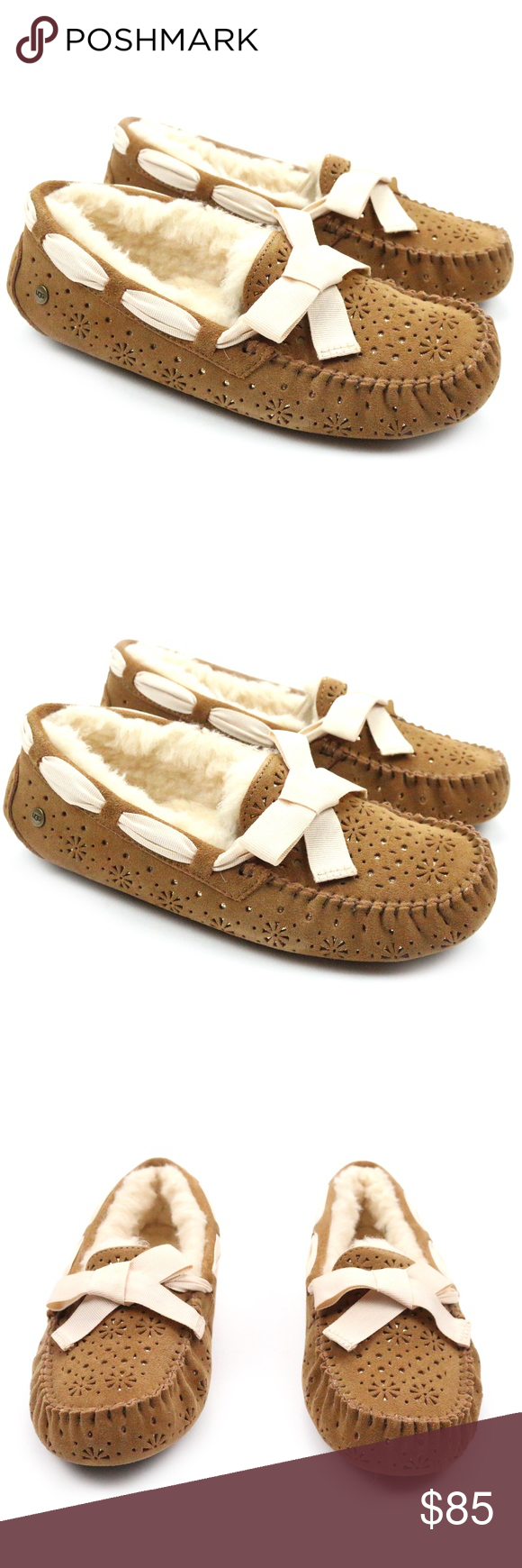 9c8a9736722 UGG Dakota Sunshine Perf Chestnut Mocassins NEW! Super cute and cozy ...