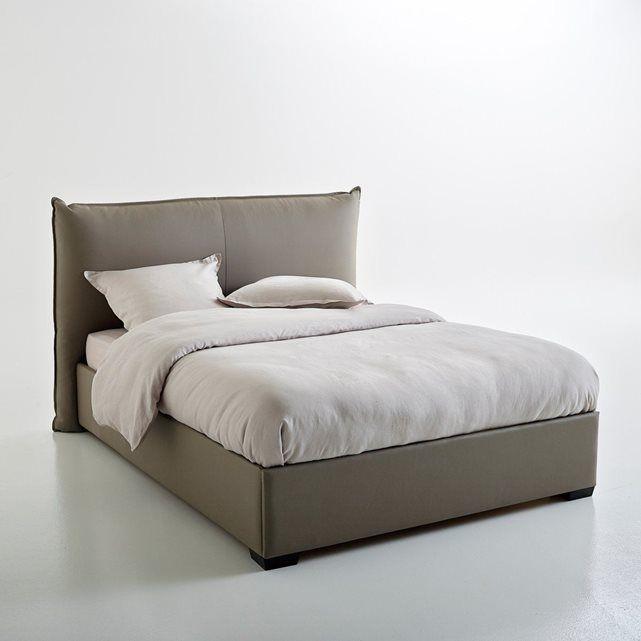 lit coffre avec sommier relevable pancho cadres m talliques lits rembourr s et lit complet. Black Bedroom Furniture Sets. Home Design Ideas