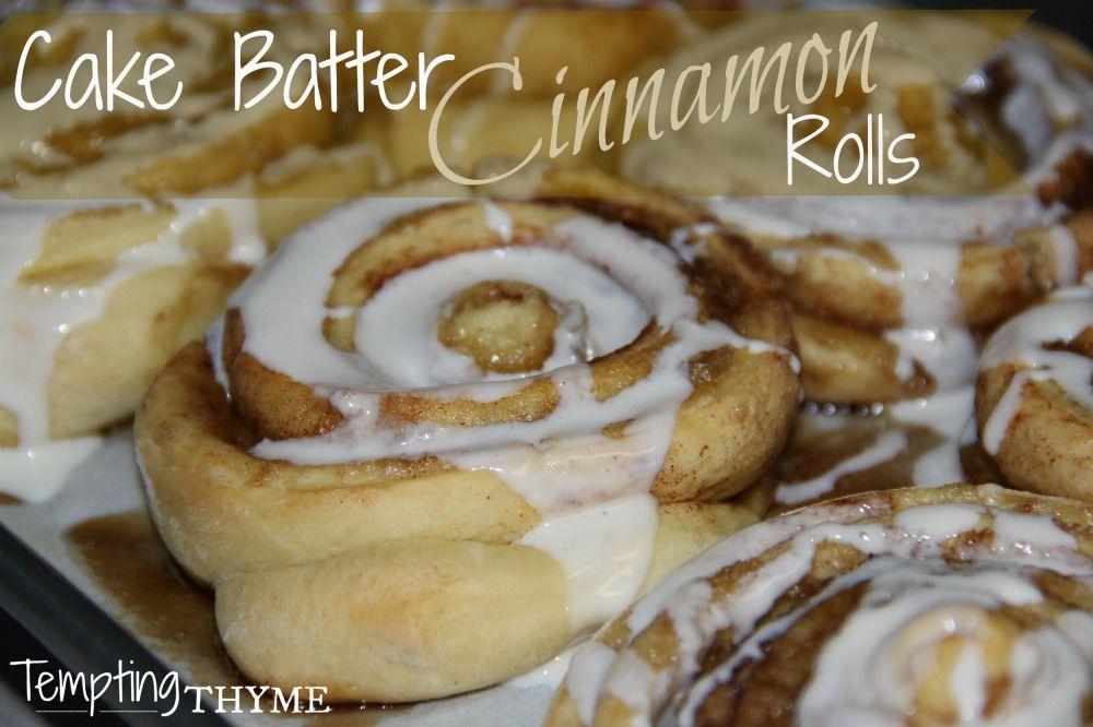 Cake Batter Cinnamon Rolls #cakebatter