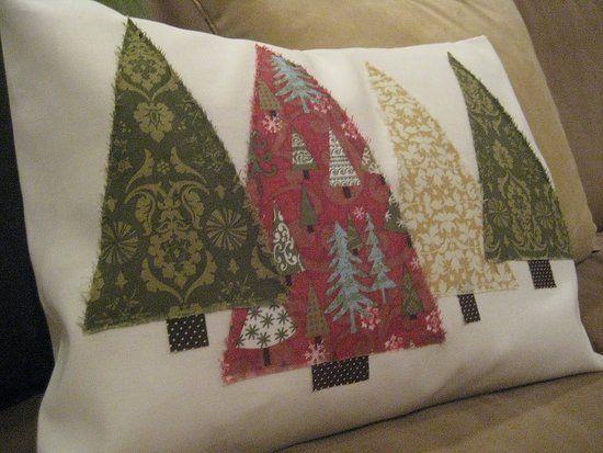 Diy Christmas Tree Pillow Deck The Halls Christmas Pillow
