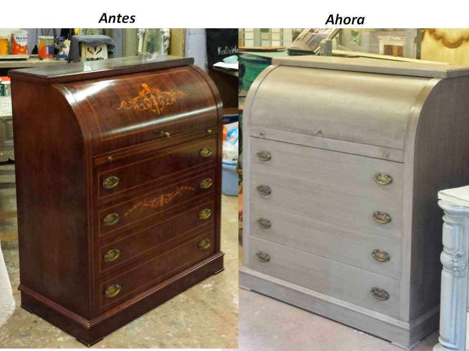 Bur visto antes y despu s de su actualizaci n en un - Restauracion muebles vintage ...