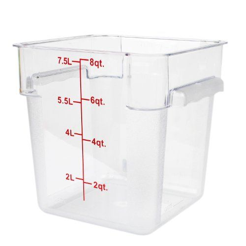 Excellante 8 Quart Polycarbonate Square Food Storage Containers Clear Excellant Http Www Amazon Com Dp B Food Storage Containers Food Storage Dining Storage