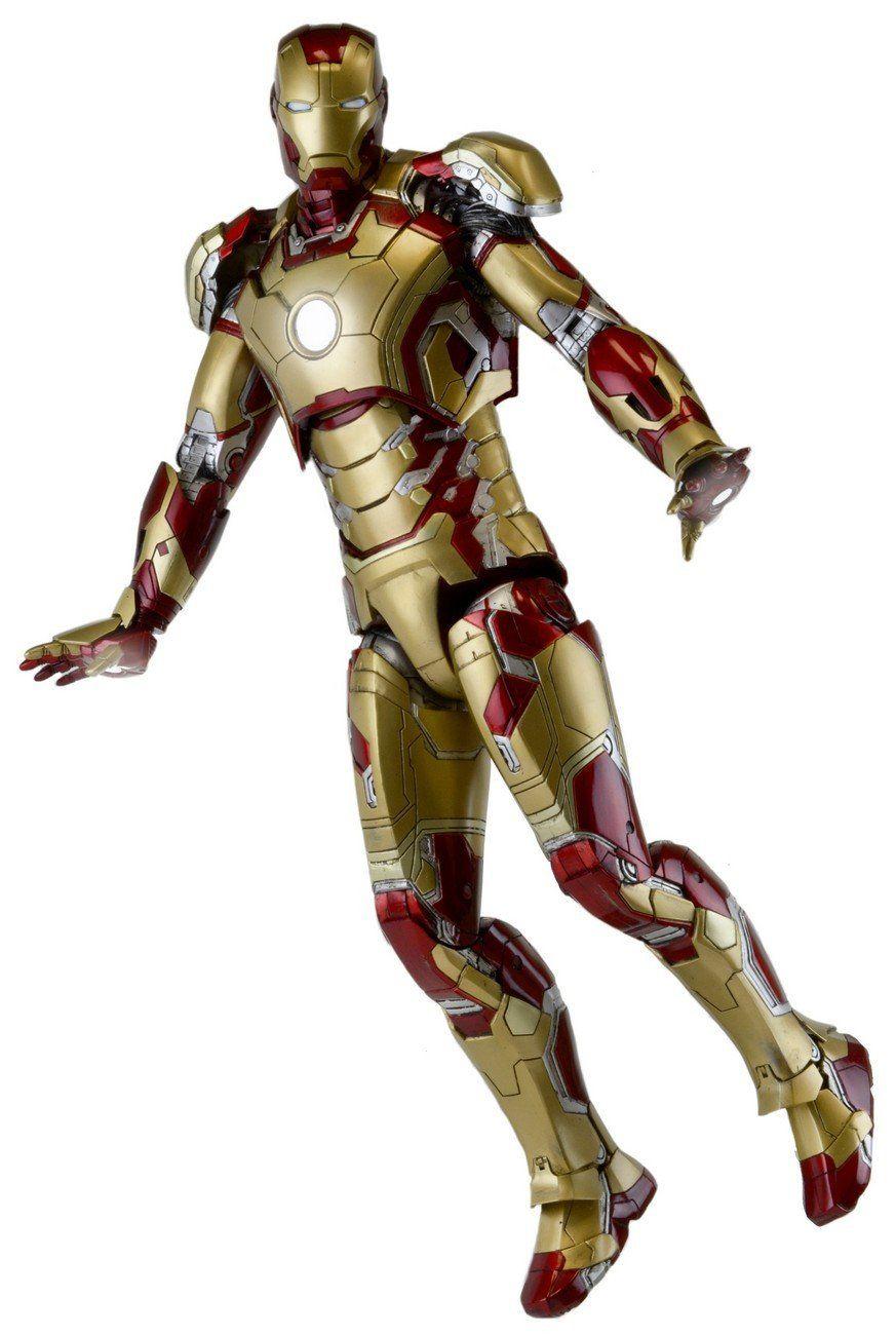 Neca Iron Man 3 Iron Man Mark 42 1 4 Scale Action Figure W Led Lights In 2021 Iron Man Iron Man Mark 42 Neca