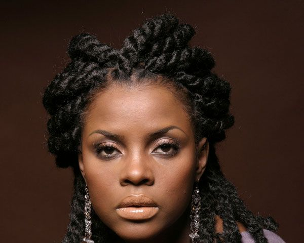 Hair Styles For Curly Hair Braids: Micro Braids Hairstyles For Black Women