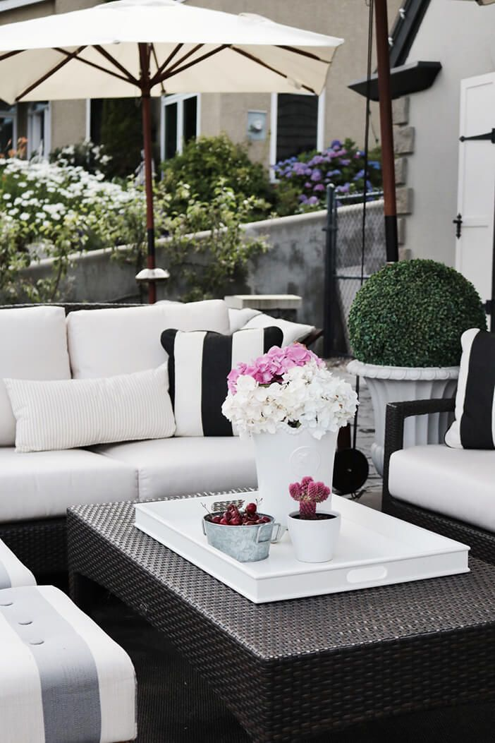 White Outdoor Patio Furniture.Some Of My Tips And Tricks For Creating The Ultimate Outdoor Space