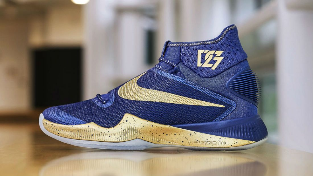 Draymond Green's Blue/Gold Nike HyperRev 2016 Finals PE for Game 2