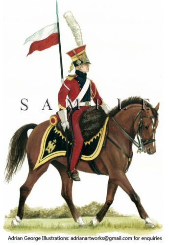 Napoleonic-Print-France-Trooper-Red-Lancers-of-the-Imperial-Guard-1915