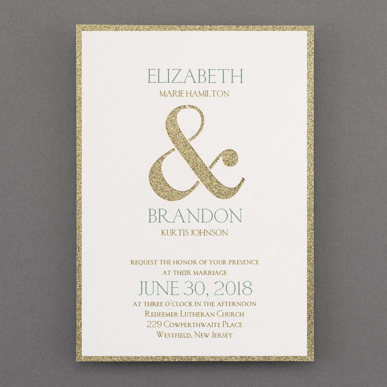 2016 Wedding Invitation Trends - Metallic