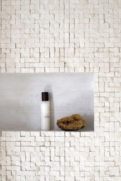 Natuursteen travertino moza ek badkamer badkamer tegels impermo badkamer pinterest - Tegel rechthoekige badkamer ...