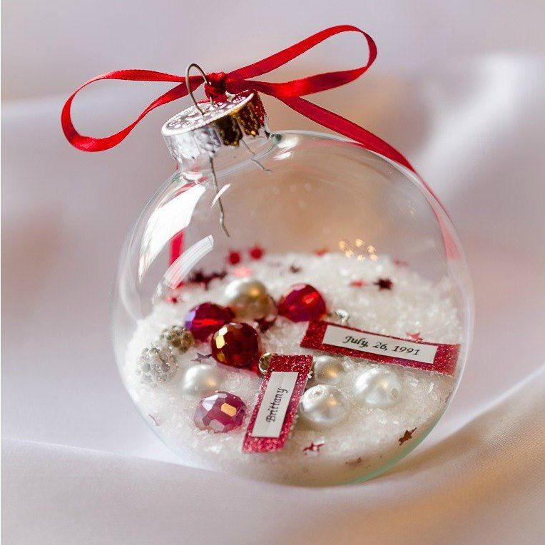 23 breathtaking ways to dress up a plain plastic or glass for Glass christmas balls crafts