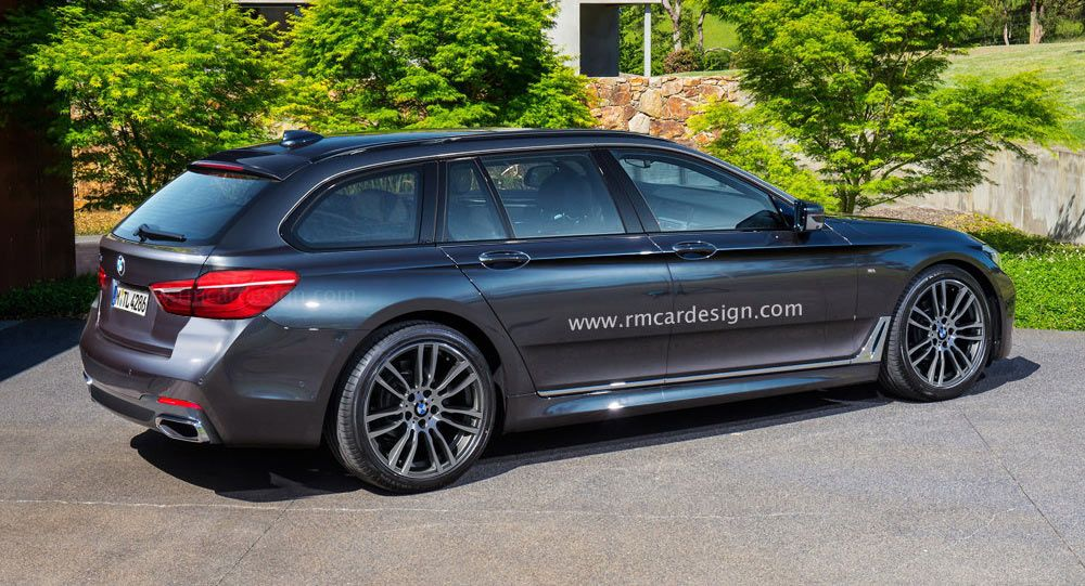 All New Bmw 5 Series Touring Rendering Borders On Sporty