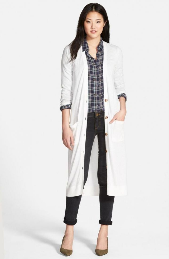 Halogen Long Sleeve Button Down Duster Cardigan Medium $89 FTC ...