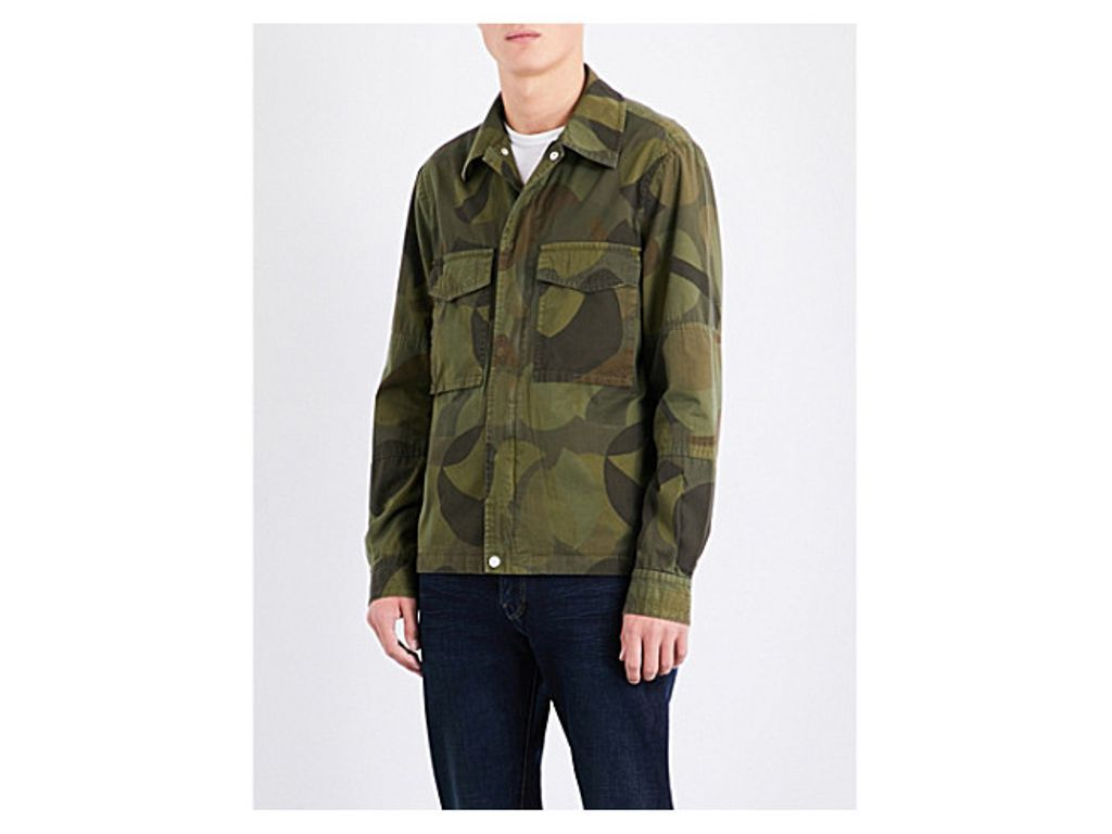 PS BY PAUL SMITH Camo-print cotton shirt jacket