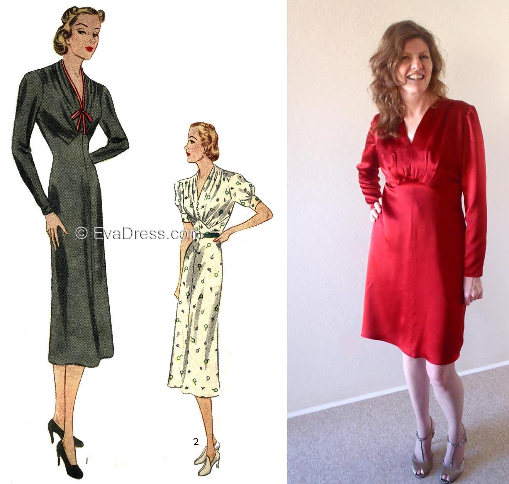 Eva dress 1937 ladies dresses 1930s dress patterns to buy eva dress 1937 ladies dresses jeuxipadfo Choice Image