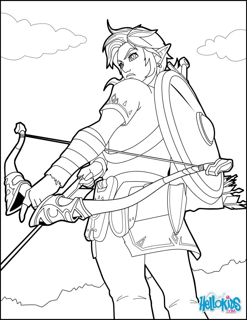 Link Coloring Page From The Famous Zelda Video Game More Video