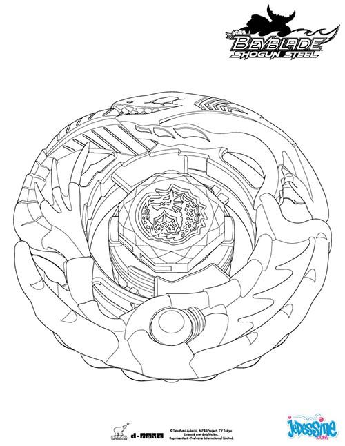 Coloriage BEYBLADE Leviathan | COLORIAGE BEYBLADE | Pinterest