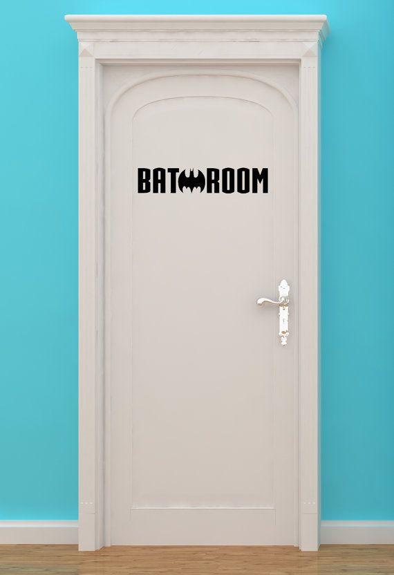 Bat Batman Bat Making H Bathroom Sign Restroom Sign Bathroom Door Sign Restroom Decal Wall Art Superhero Vinyl Sticker Wall Art Batman Bedroom Superhero Bathroom Batman Bathroom