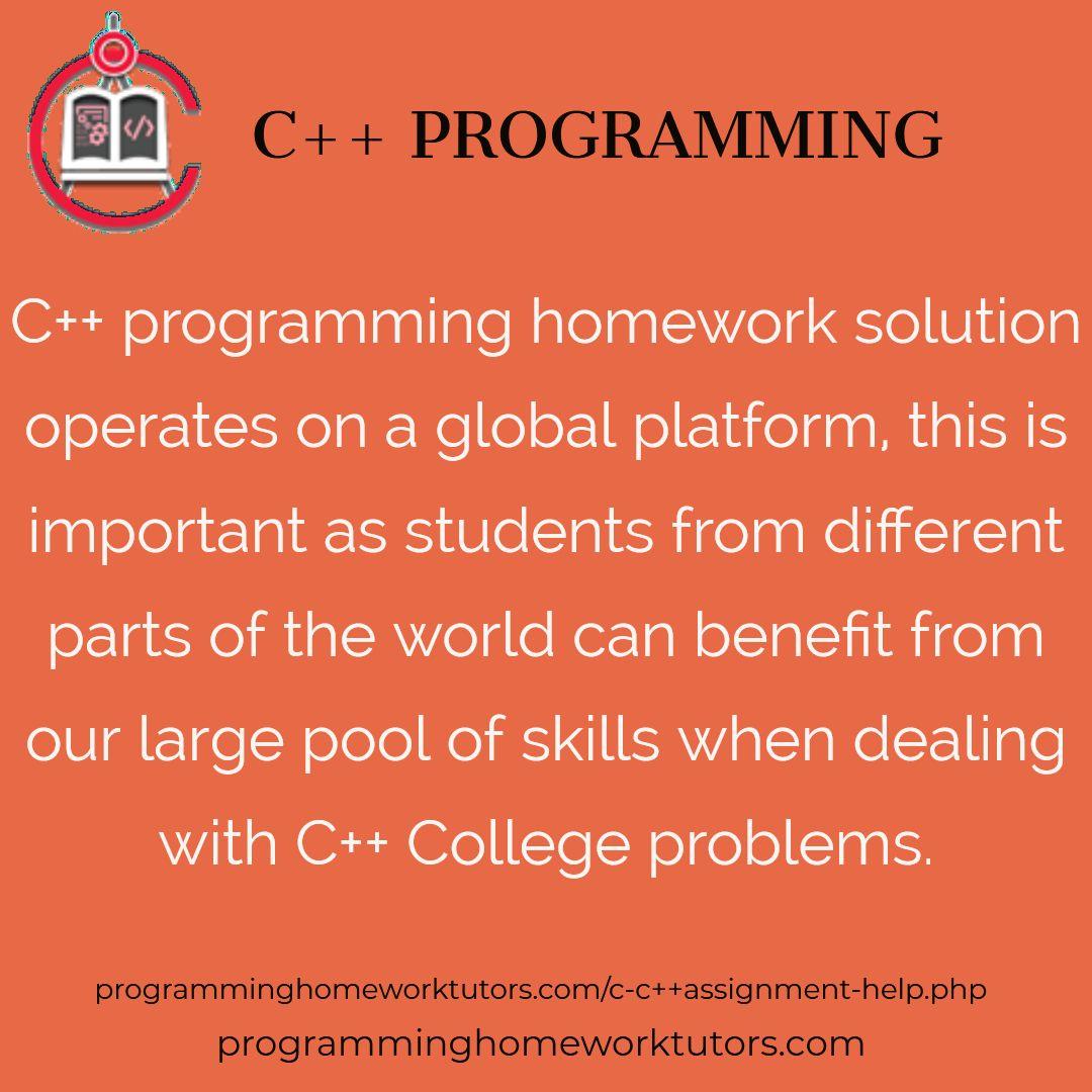 Online C++ Homework Help, C++ Assignment Helper