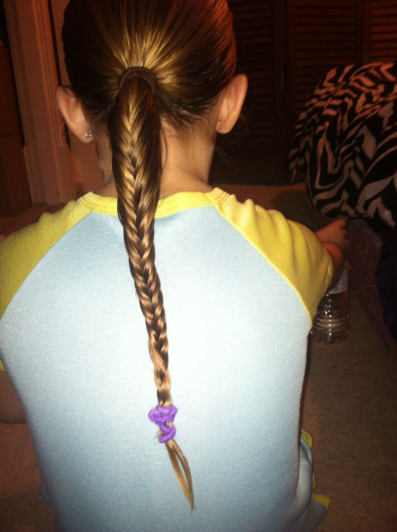 Fish tail braid on my niece hair and beauty pinterest