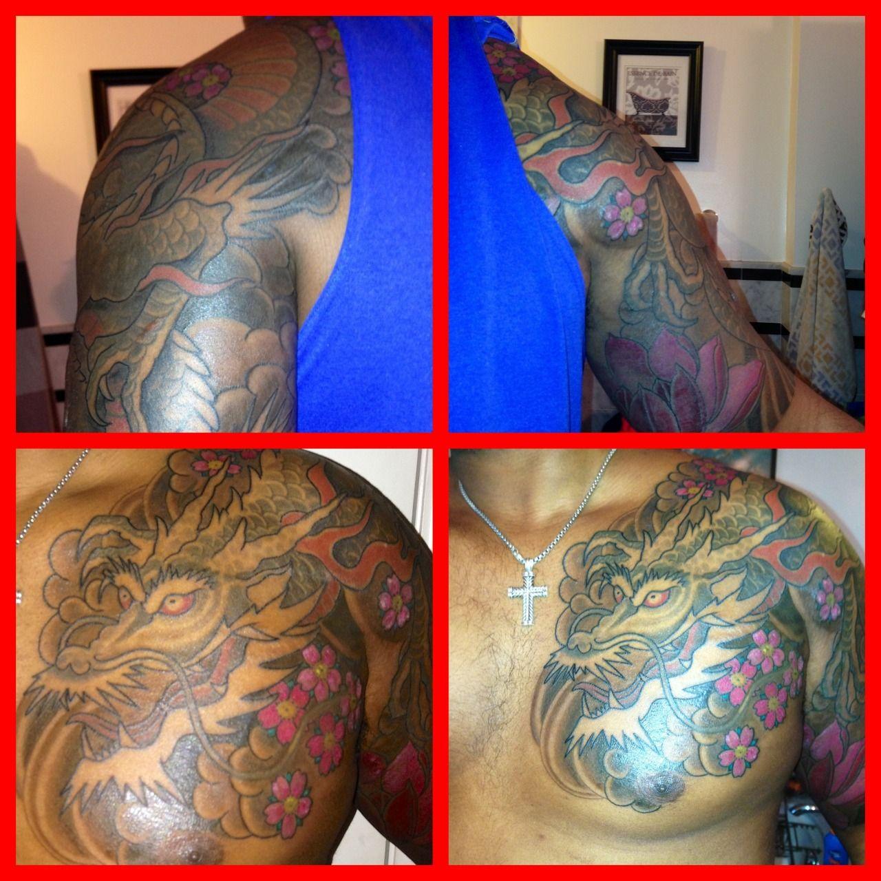 Dragon tattoo on dark skin dark skin dragon tattoo