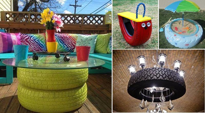 30 fa ons g niales de r cup rer de vieux pneus bricolage pinterest bricolage recyclage. Black Bedroom Furniture Sets. Home Design Ideas