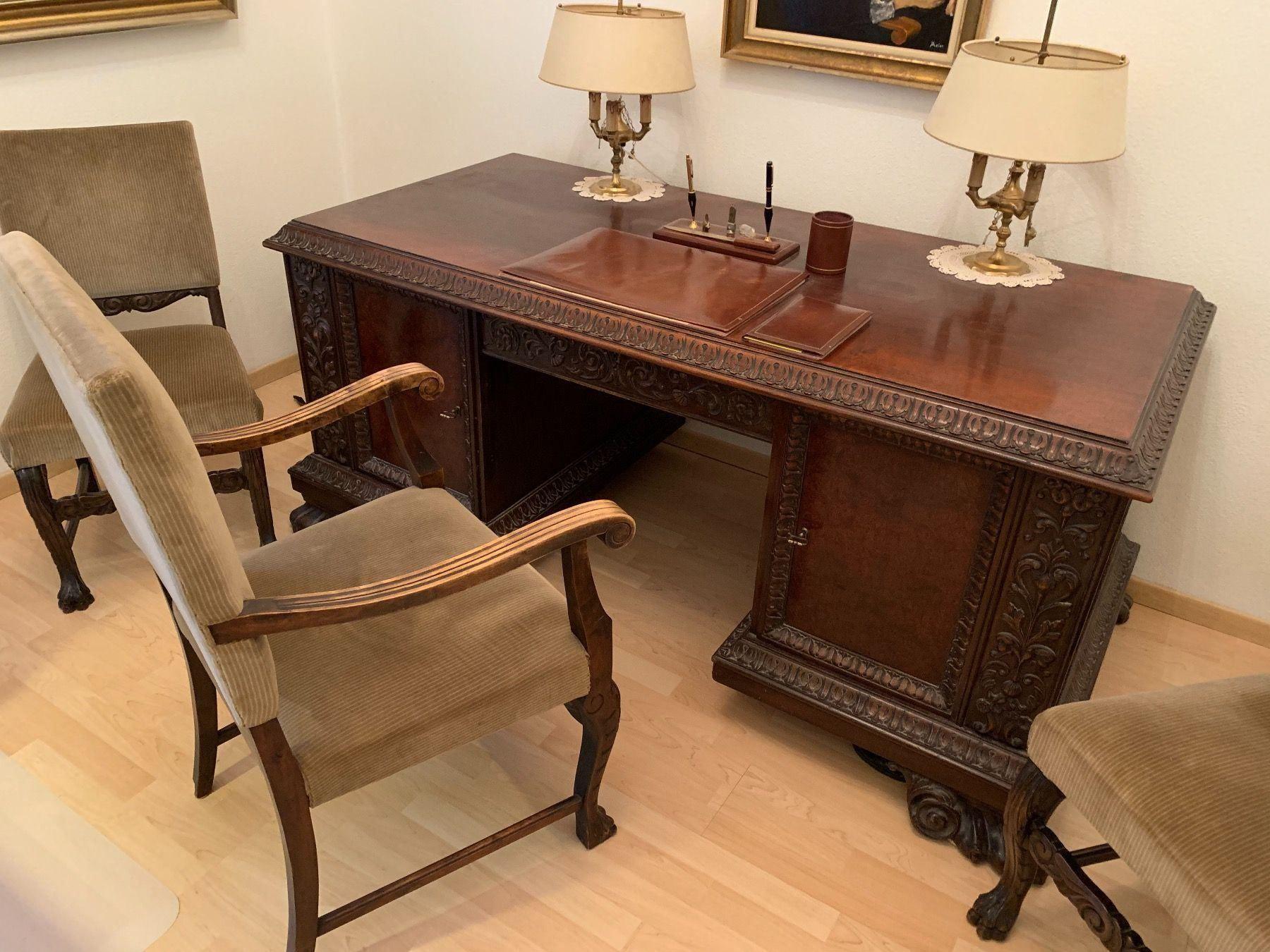 Antiker Schreibtisch 1930 Jahre Kaufen Auf Ricardo Schreibtisch Antik Schreibtisch Kleines Landhaus