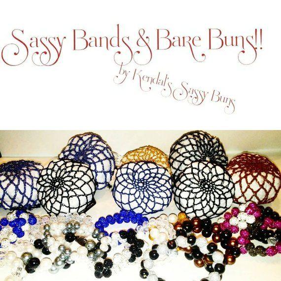Bare Bun Many Colors Crochet Net Hair Bun Horse Show